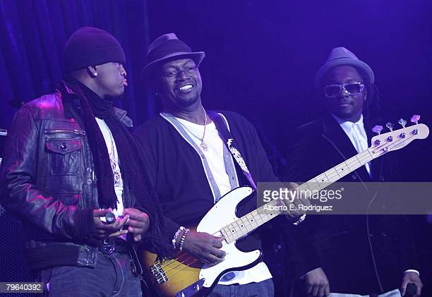 Singer NeYo musician Randy Jackson and singer wlliam perform at The Black Eyed Peas' 4th Annual Peapod Foundation Benefit Concert held on February...