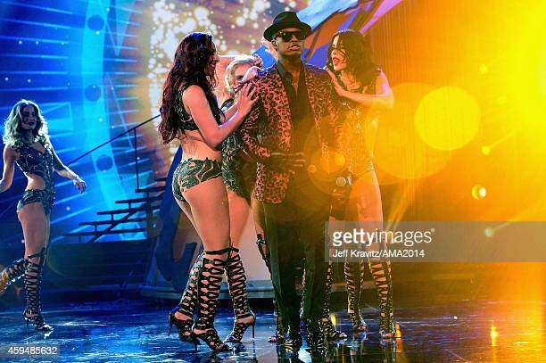 Singer NeYo performs onstage at the 2014 American Music Awards at Nokia Theatre LA Live on November 23 2014 in Los Angeles California