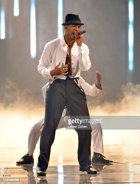 Singer Ne-Yo performs onstage during the 2010 American Music Awards held at Nokia Theatre L.A. Live on November 21, 2010 in Los Angeles, California.