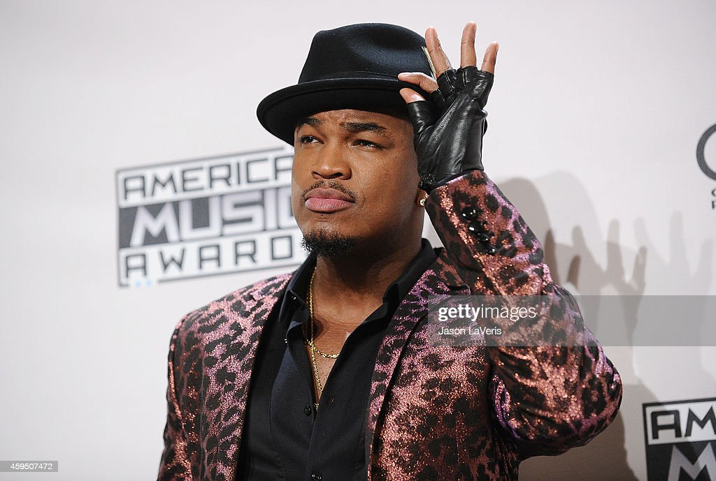 Singer Ne-Yo poses in the press room at the 2014 American Music Awards at Nokia Theatre L.A. Live on November 23, 2014 in Los Angeles, California.