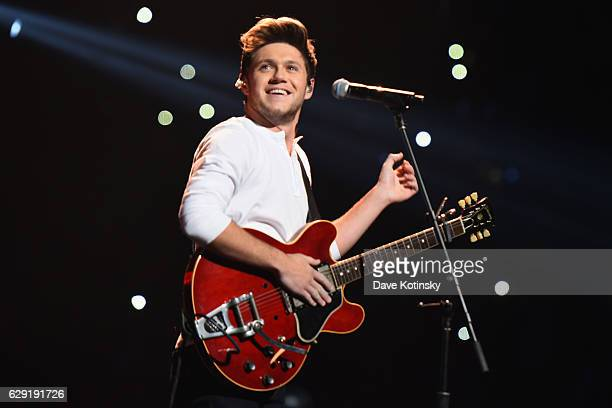 Singer Niall Horan performs on stage during KISS 108's Jingle Ball 2016 at TD Garden on December 11 2016 in Boston Massachusetts