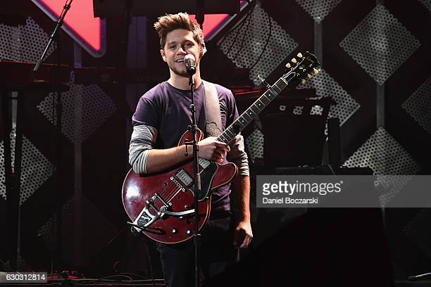Singer Niall Horan performs onstage during 1035 KISS FM's Jingle Ball 2016 at Allstate Arena on December 14 2016 in Rosemont Illinois