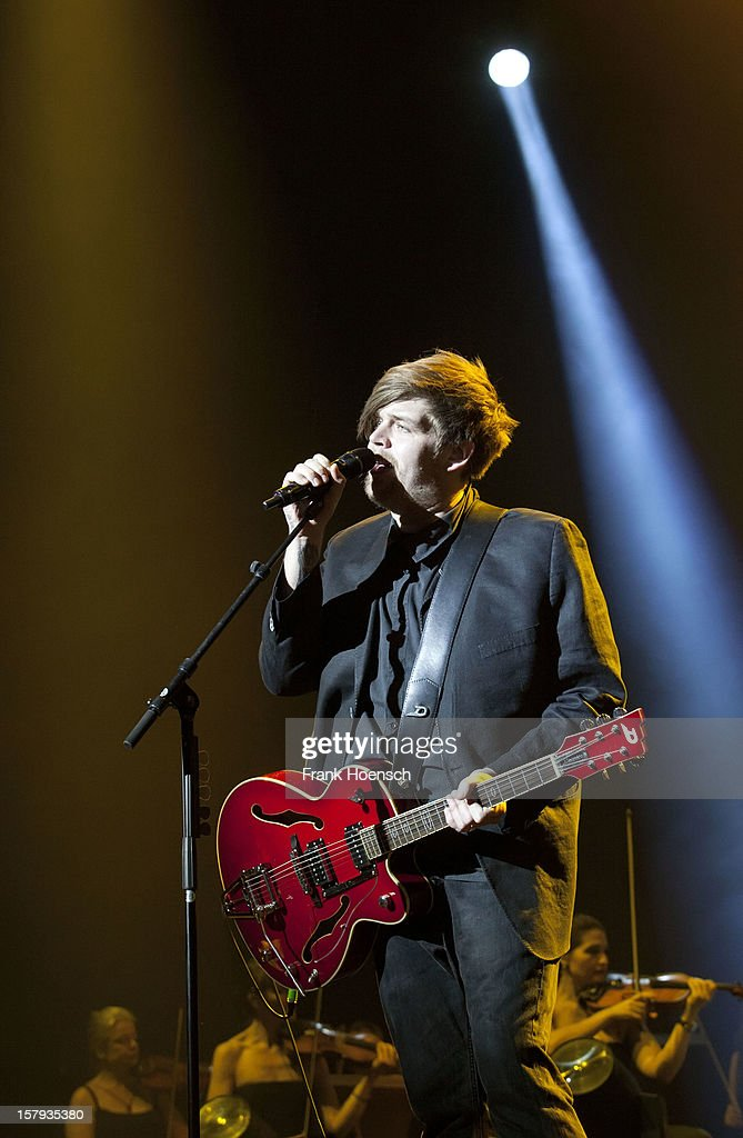 Singer Nicholas Mueller of Jupiter Jones performs live during AIDA Night Of The Proms at the O2 World on December 7, 2012 in Berlin, Germany.
