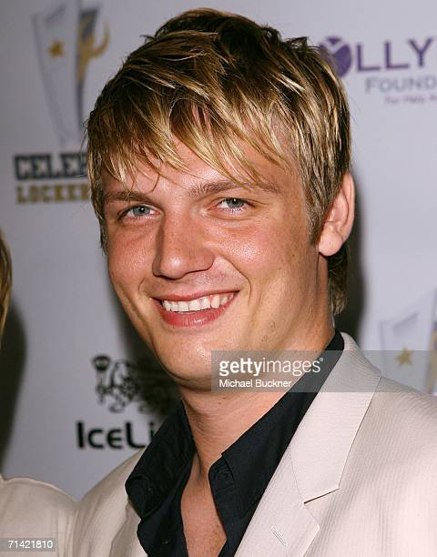 Singer Nick Carter arrives at the Celebrity Lock Room presents An All Star Night at the Mansion at the Playboy Mansion on July 11 2006 in Los Angeles...