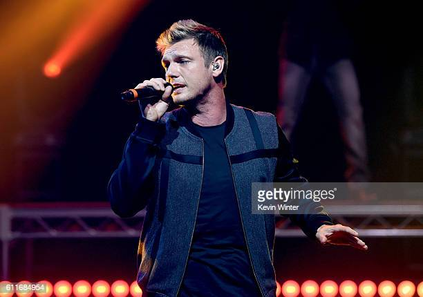 Singer Nick Carter of Backstreet Boys perform live on the Honda Stage at the iHeartRadio Theater LA on September 30 2016 in Burbank California