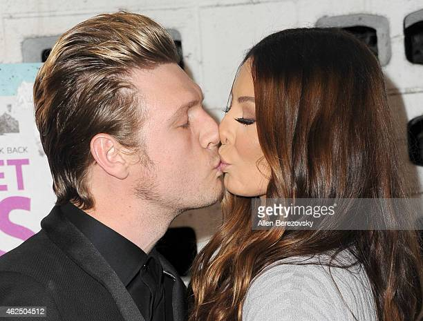 Singer Nick Carter of the Backstreet Boys and wife Lauren Kitt attend the premiere of Gravitas Ventures' Backstreet Boys Show 'Em What You're Made Of...