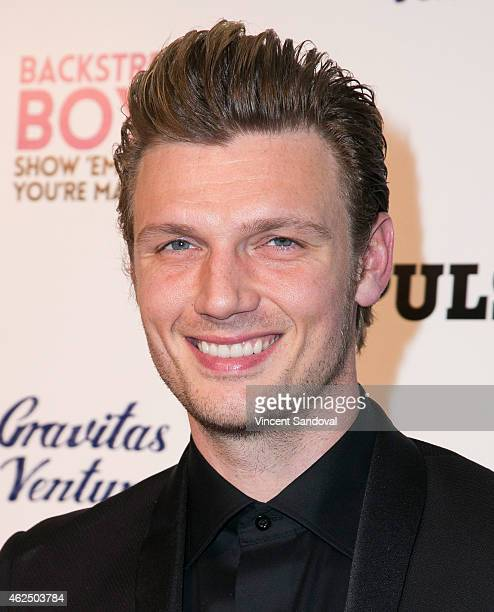 Singer Nick Carter of The Backstreet Boys attends the Los Angeles premiere of 'Backstreet Boys Show 'Em What You're Made Of' at ArcLight Cinemas...