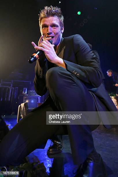 Singer Nick Carter of the Backstreet Boys performs onstage during the Second Annual Hilarity For Charity benefiting The Alzheimer's Association at...