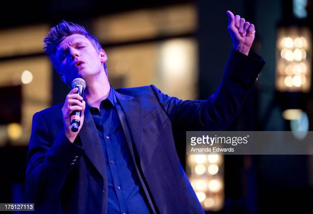 Singer Nick Carter of the band Backstreet Boys performs onstage at the 2013 Grove Summer Concert Series at The Grove on July 31 2013 in Los Angeles...