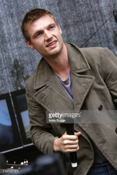 Singer Nick Carter performs live on stage prior to a CD signing session at the Alexa shopping mall on May 12, 2011 in Berlin, Germany.