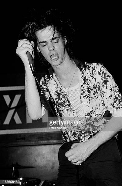Singer Nick Cave performs at Exit in Chicago Illinois June 14 1984