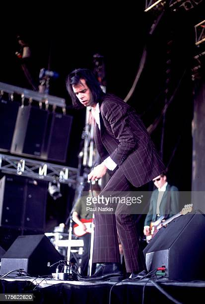 Singer Nick Cave performs in Chicago Illinois July 12 1994