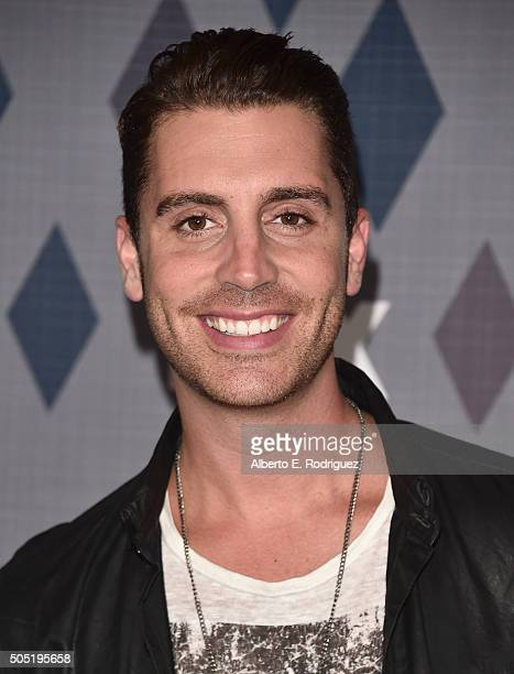 Singer Nick Fradiani attends the FOX Winter TCA 2016 AllStar Party at The Langham Huntington Hotel and Spa on January 15 2016 in Pasadena California