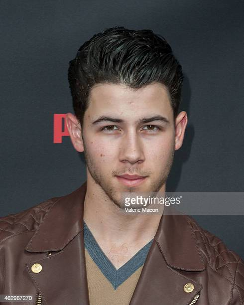 Singer Nick Jonas arrives at the Roc Nation PreGRAMMY Brunch on February 7 2015 in Beverly Hills California