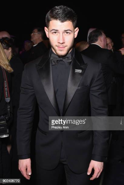 Singer Nick Jonas attends FOX FX and Hulu 2018 Golden Globe Awards After Party at The Beverly Hilton Hotel on January 7 2018 in Beverly Hills...
