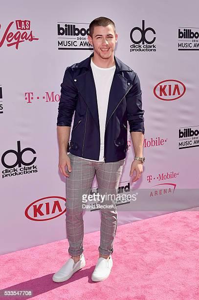 Singer Nick Jonas attends the 2016 Billboard Music Awards at TMobile Arena on May 22 2016 in Las Vegas Nevada