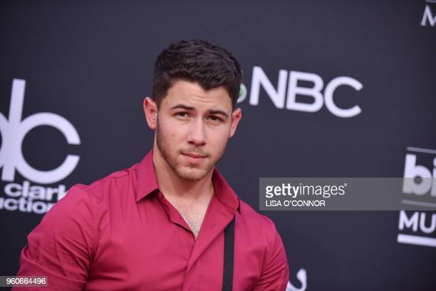 Singer Nick Jonas attends the 2018 Billboard Music Awards 2018 at the MGM Grand Resort International on May 20 in Las Vegas Nevada