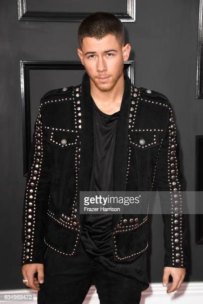 Singer Nick Jonas attends The 59th GRAMMY Awards at STAPLES Center on February 12 2017 in Los Angeles California