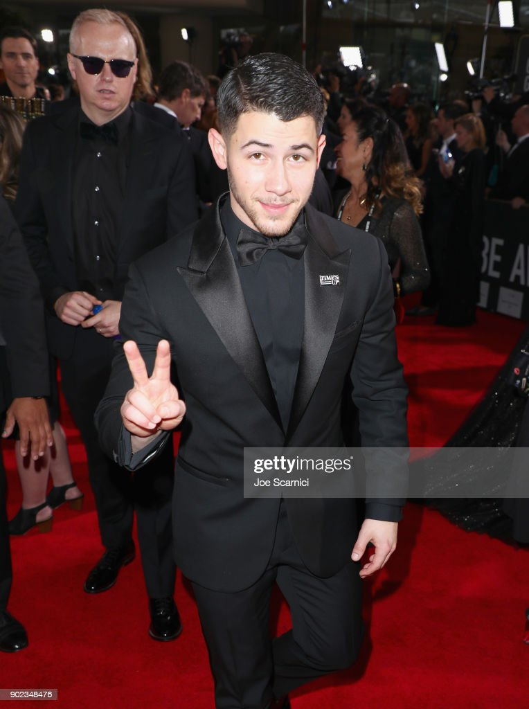 Singer Nick Jonas celebrates The 75th Annual Golden Globe Awards with Moet & Chandon at The Beverly Hilton Hotel on January 7, 2018 in Beverly Hills, California.