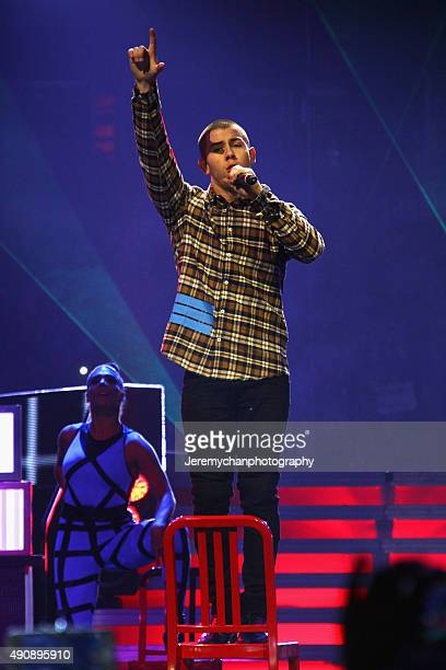 Singer Nick Jonas performs during WE Day Toronto at the Air Canada Centre on October 1 2015 in Toronto Canada