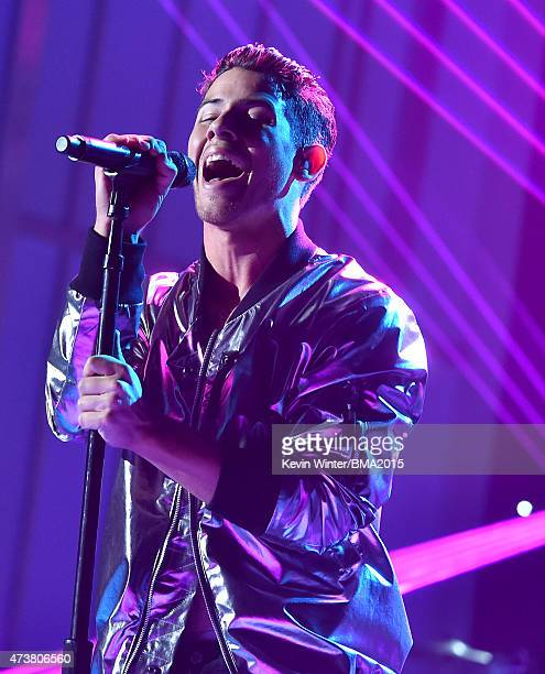 Singer Nick Jonas performs onstage during the 2015 Billboard Music Awards at MGM Grand Garden Arena on May 17 2015 in Las Vegas Nevada