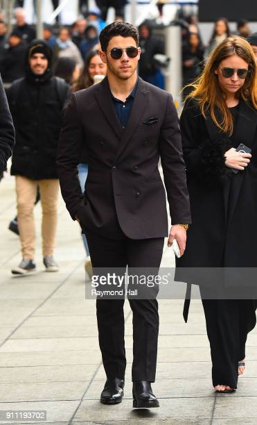 Singer Nick Jonas seen at Roc Nation Brunch on January 27 2018 in New York City
