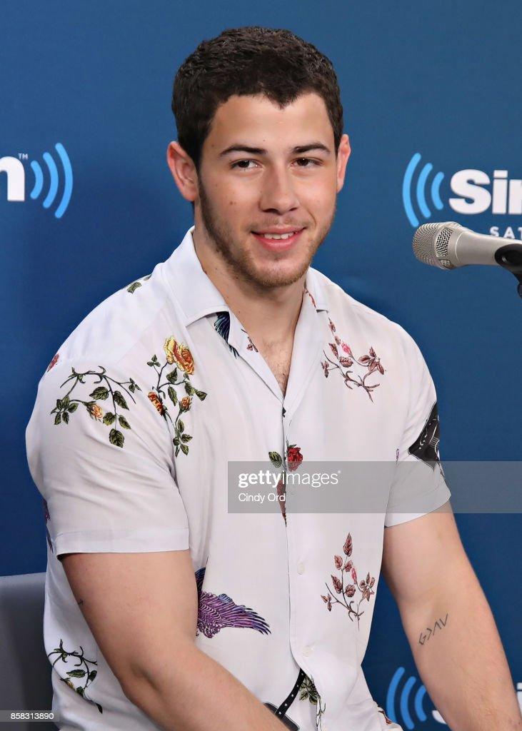 Singer Nick Jonas visits the Morning Mash Up on SiriusXM Hits 1 at SiriusXM Studios on October 6, 2017 in New York City.