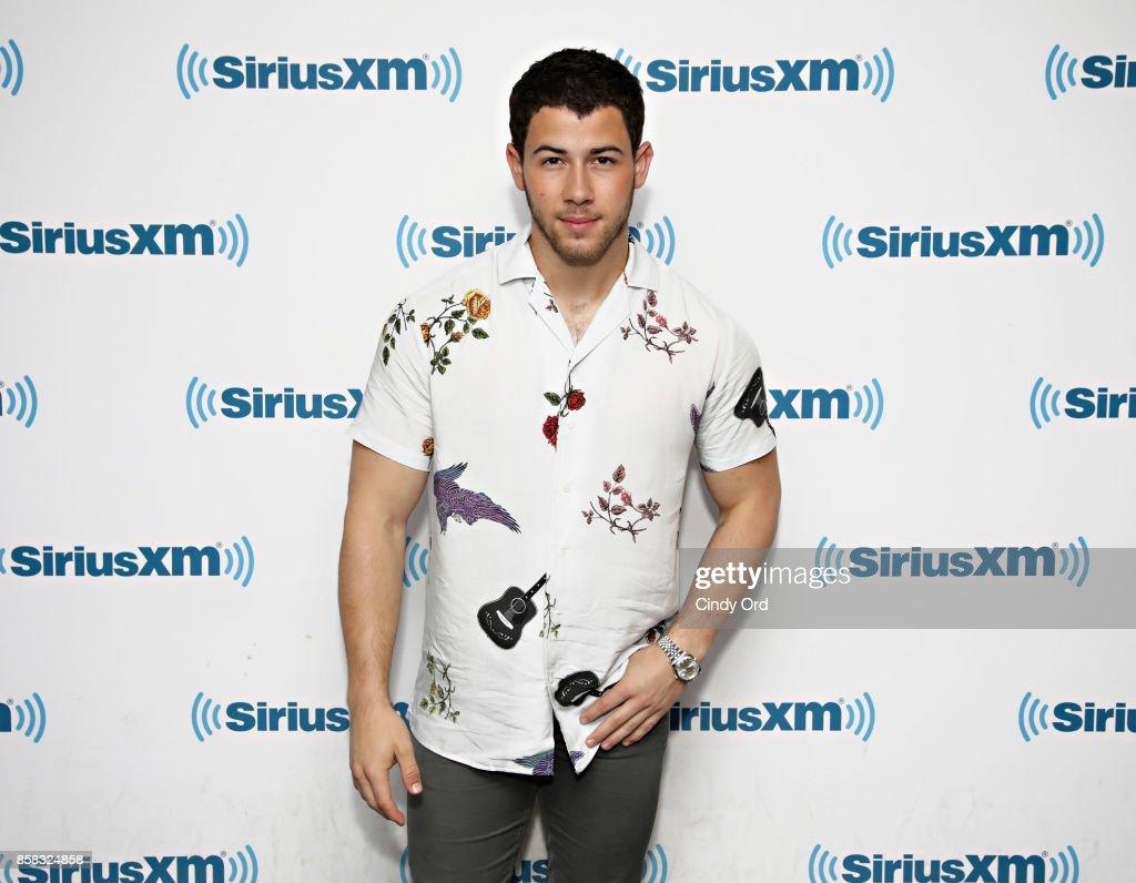 Singer Nick Jonas visits the SiriusXM Studios on October 6, 2017 in New York City.