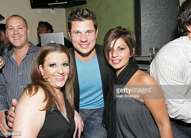 Singer Nick Lachey and guests inside at the Super Skins Kickoff Party hosted by Nick Lachey and Jimmie Johnson at the Hula Bay Club on January 30...