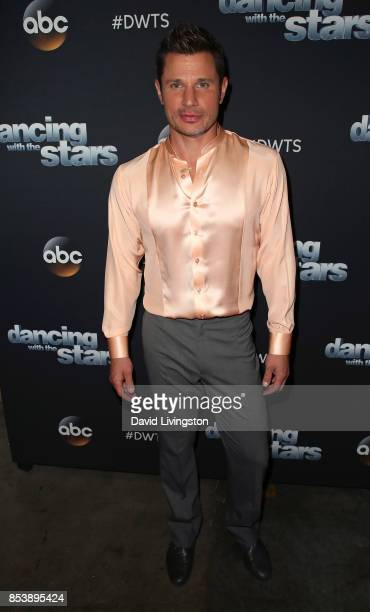 Singer Nick Lachey attends 'Dancing with the Stars' season 25 at CBS Televison City on September 25 2017 in Los Angeles California