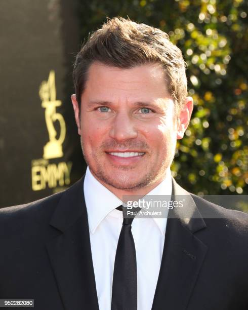 Singer Nick Lachey attends the 45th Annual Daytime Creative Arts Emmy Awards at the Pasadena Civic Auditorium on April 27 2018 in Pasadena California