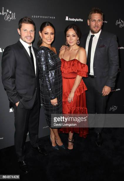 Singer Nick Lachey television personality Vanessa Lachey actress Lindsay Price and chef Curtis Stone attend the 7th Annual Baby Ball Gala at...