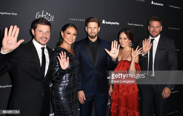 Singer Nick Lachey television personality Vanessa Lachey CEO and founder of AdoptTogether Hank Fortener actress Lindsay Price and chef Curtis Stone...