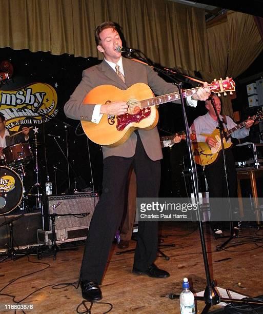 Singer Nick Willett performs live at the Hemsby 43 Rock 'N' Roll Weekend on October 10, 2009 in Hemsby in Norfolk, England.