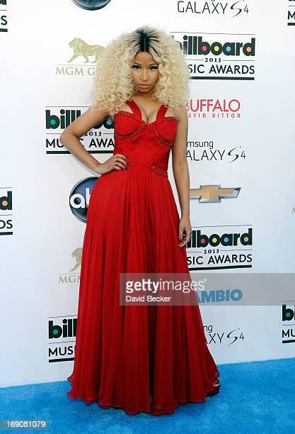 Singer Nicki Minaj arrives at the 2013 Billboard Music Awards at the MGM Grand Garden Arena on May 19 2013 in Las Vegas Nevada