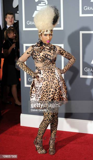 Singer Nicki Minaj arrives at The 53rd Annual GRAMMY Awards held at Staples Center on February 13, 2011 in Los Angeles, California.