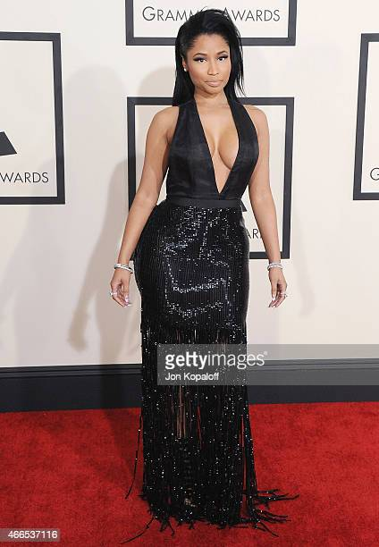 Singer Nicki Minaj arrives at the 57th GRAMMY Awards at Staples Center on February 8 2015 in Los Angeles California