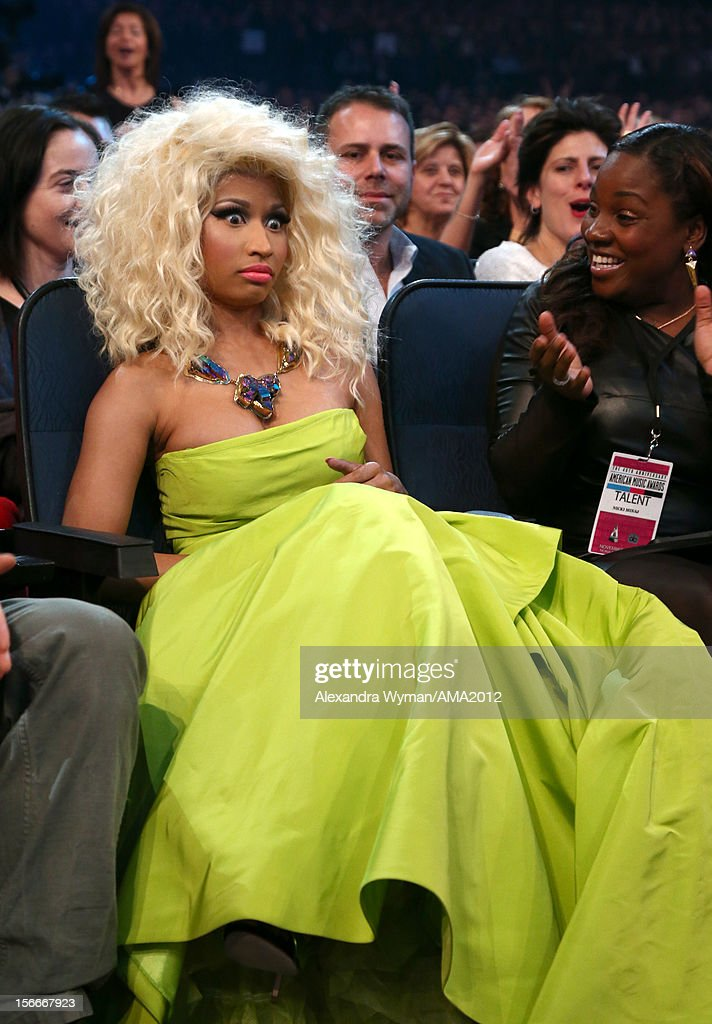 Singer Nicki Minaj at the 40th American Music Awards held at Nokia Theatre L.A. Live on November 18, 2012 in Los Angeles, California.