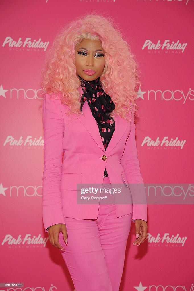 Singer Nicki Minaj attends Nicki Minaj's 'Pink Friday' Fragrance Holiday Season Celebration at Macy's Queens Center on November 20, 2012 in New York City.