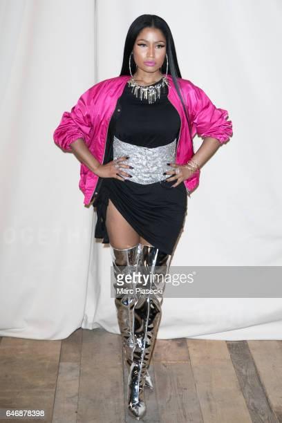 Singer Nicki Minaj attends the HM Studio show as part of the Paris Fashion Week on March 1 2017 in Paris France
