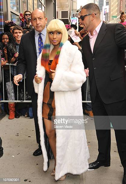 Singer Nicki Minaj attends the MAC Nicki Minaj launch of Pink Friday Lipstick at MAC Times Square on November 23 2010 in New York City