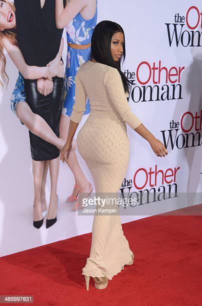 Singer Nicki Minaj attends the premiere of Twentieth Century Fox's 'The Other Woman' at Regency Village Theatre on April 21 2014 in Westwood...