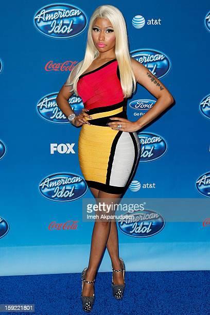 Singer Nicki Minaj attends the season premiere screening of Fox's American Idol at Royce Hall UCLA on January 9 2013 in Westwood California