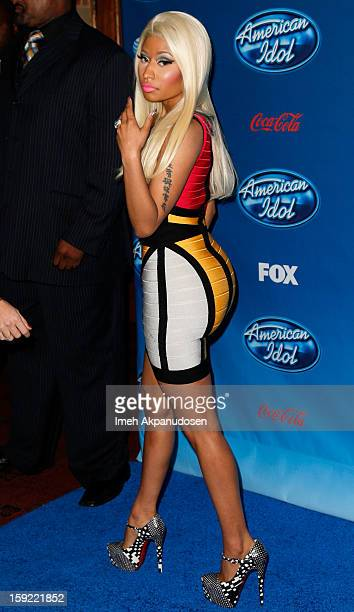 Singer Nicki Minaj attends the season premiere screening of Fox's 'American Idol' at Royce Hall UCLA on January 9 2013 in Westwood California