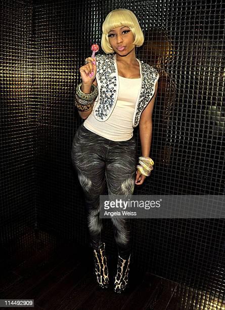 Singer Nicki Minaj attends the Sugar Factory American Brasserie at Paris Las Vegas on May 21 2011 in Las Vegas Nevada