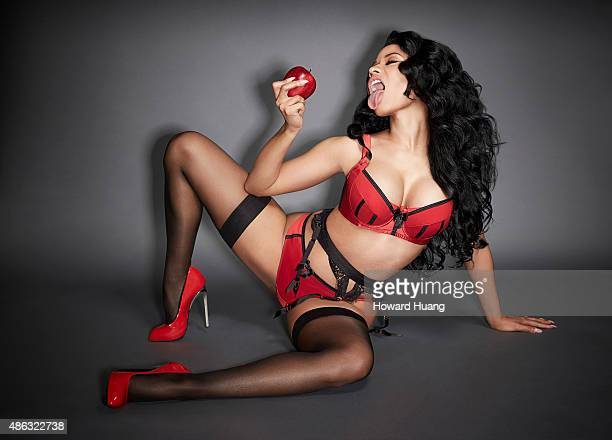 Singer Nicki Minaj is photographed for a calendar on October 30 in New York City