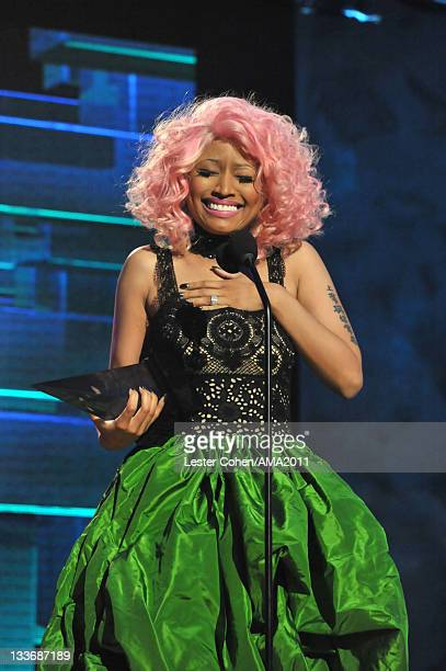 Singer Nicki Minaj onstage at the 2011 American Music Awards held at Nokia Theatre LA LIVE on November 20 2011 in Los Angeles California