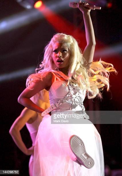 Singer Nicki Minaj performs at 1027 KIIS FM's Wango Tango at The Home Depot Center on May 12 2012 in Carson California