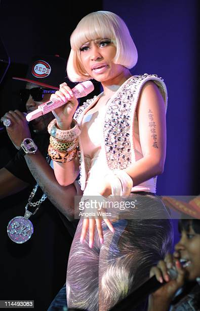 Singer Nicki Minaj performs at Chateau Nightclub and Gardens at Paris Las Vegas on May 21 2011 in Las Vegas Nevada