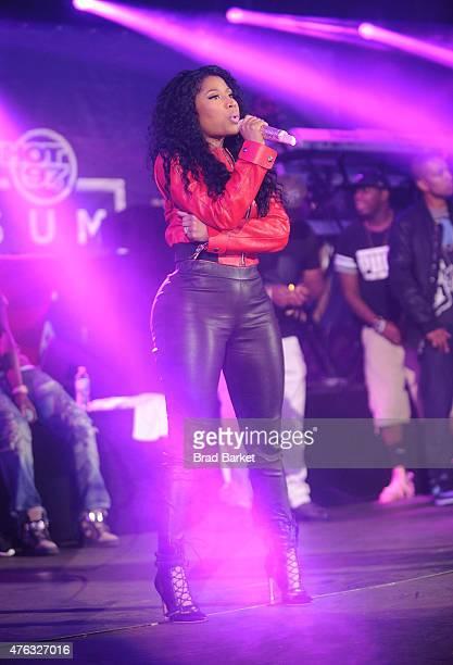 singer Nicki Minaj performs at the 2015 Hot 97 Summer Jam at MetLife Stadium on June 7 2015 in East Rutherford New Jersey